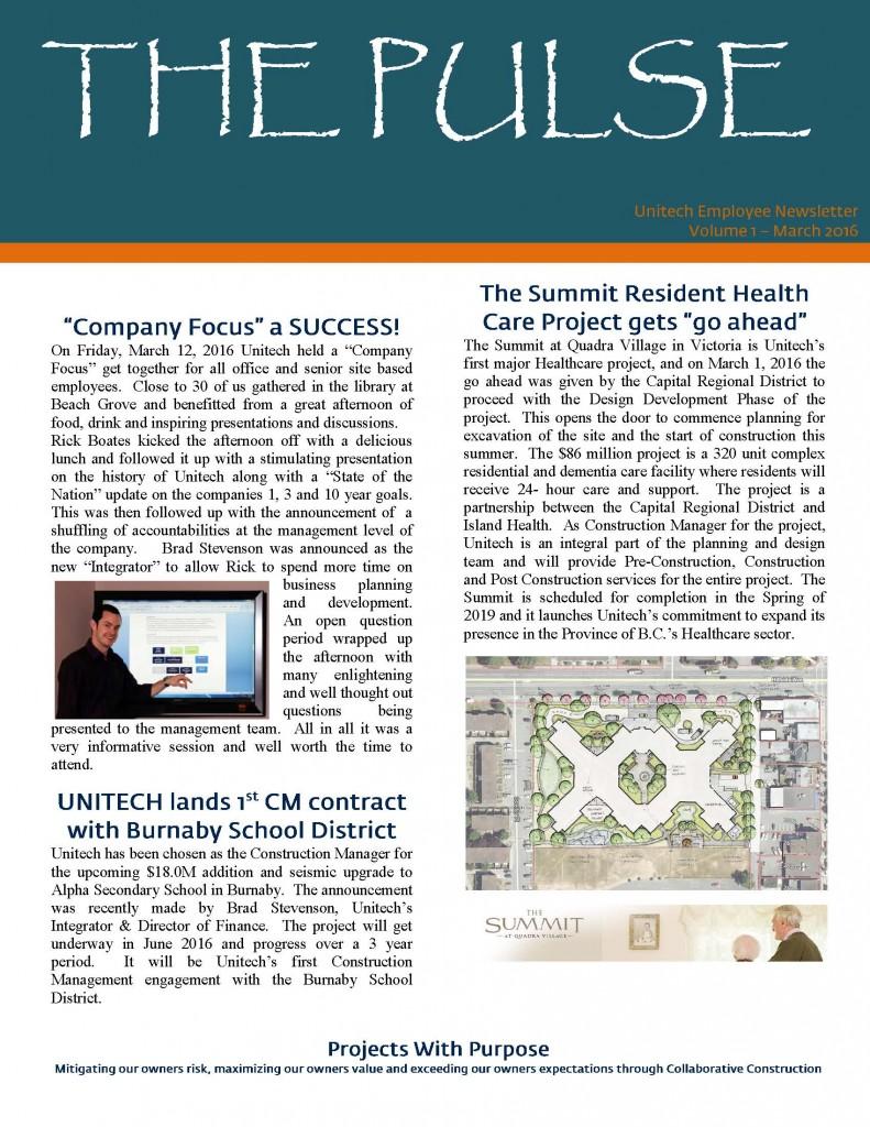 Newsletter - 16-03-01