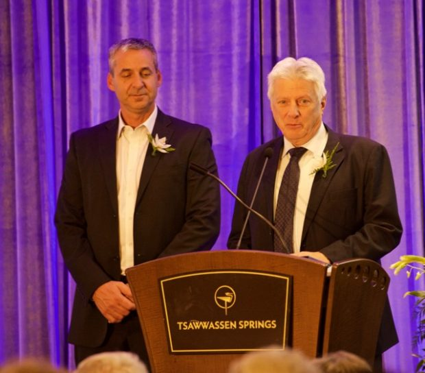 """Rick Boates and Brian Parker accepting the Annual Hats Off to Excellence Award"""""""
